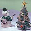 xmas tree, burl ives, snowman