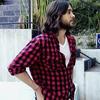 [Jared Leto] →  red plaid