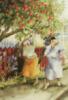 позитивные старушки с яблоками