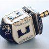 scarlettina: Jewish: Ceramic dreidel