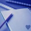 Notebook & Pencil - Blue