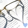 Book & Glasses-Heart