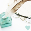 Glasses + Inkwell & Quill