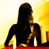 Damon in Elena's Silhouette