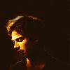 Damon's Yellow Profile in Shadow