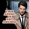 Becky: SPN: Cas is nawt amused