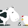 cute: cow+egg+chicken