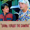 [Back To The Future] Forgot the camera!