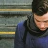 sinkwriter: Glee - Kurt - Never Been Kissed (scarf)