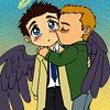 SPN - Dean/Cas Wing!Cuddle
