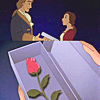 Belle and Adam at Christmastime