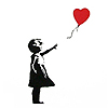stock - banksy: girl with red balloon