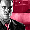 TW Ianto with a red background