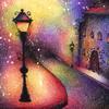 Разноцветный фонарь