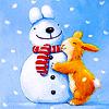 заяц снеговик