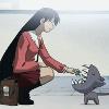 Azumanga | Sakaki | Kitty eating good