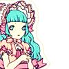 lolita pink bonnet