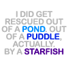 funny: rescued by a starfish