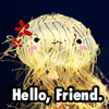 Kecen: Friendly Flower hat Jellyfish