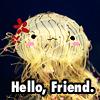 Friendly Flower hat Jellyfish