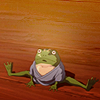 skriftlig: frog from spirited away