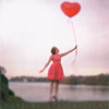 D: Stock: heart balloon