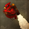 Rocket powered cardinal