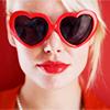 heart sunglasses v-day