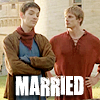 Arthur and Merlin married