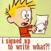 I Signed Up