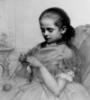 девочка и пряжа