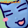 cat, blue