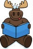 Moose with Book
