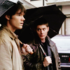 Nobody's laughing now: SPN - boys and umbrellas
