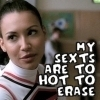 Santana Lopez: my sexts are too hot to erase