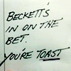 Nicole: Beckett's in on the bet!
