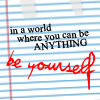 note be yourself