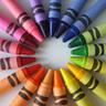 Crayons colour circle