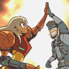 Samus and Snake High Five