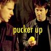 thefifthchevron: john/cam pucker up