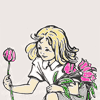 -: Enid Blyton - Naughtiest Girl (flowers)
