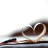 paper heart and pen