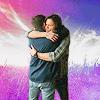 angelskiss: Dean/Sam - Epic Hug (Pink Lightning)