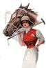 дама и лошадь