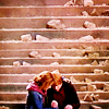 that girl, she glows: HP-Ron/Hermione Stairs