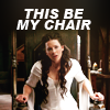 that girl, she glows: LotS-This Be My Chair!