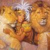 негритянка с тиграми