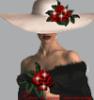шляпка+роза
