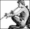 Charis: faun with panpipes