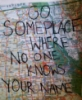 go some place